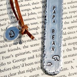 handmade Accessories - Hand stamped metal bookmark